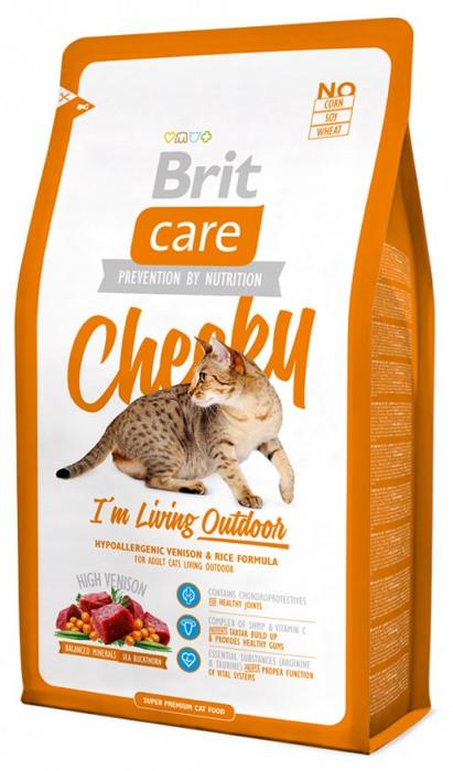 Brit Care Cat Cheeky I am Living Outdoor 7 кг, брит для кошек и котов, бывающих на улице