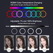 Кільцевий світло 30см (30W) Puluz PU411 RGB ring Light, фото 7