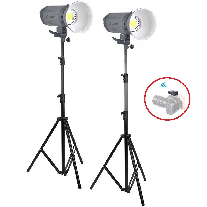 3000Вт Набор постоянного света Visico LED-150T Easy Kit