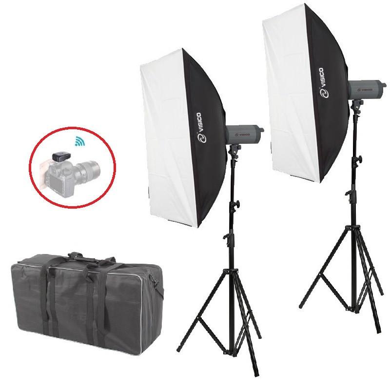4000Вт Набір постійного світла Visico LED-200T Softbox Kit