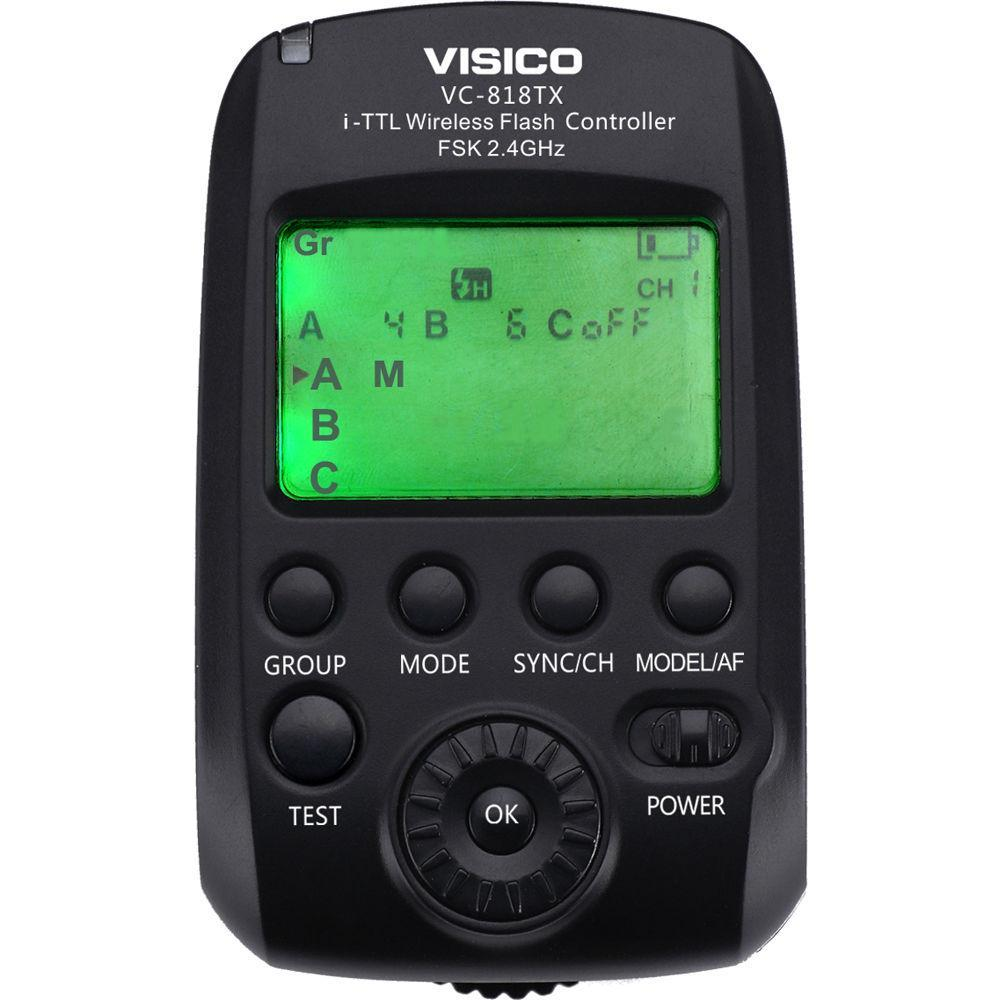 Синхронізатор передавач Visico VC-818TX-N i-TTL for Nikon