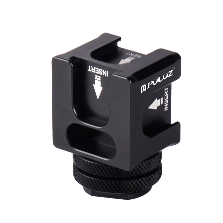 Тройник на камеру горячий башмак Puluz PU3032 для микрофона, света, экшн камеры, смартфона