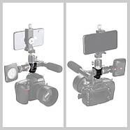 Тройник на камеру горячий башмак Puluz PU3032 для микрофона, света, экшн камеры, смартфона, фото 5