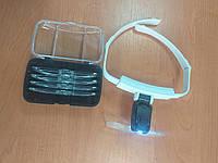 Лупа-очки бинокулярные налобные ТН-9201 с подсветкой, фото 1