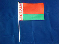 Флажок Белоруссии 13x20см на пластиковом флагштоке