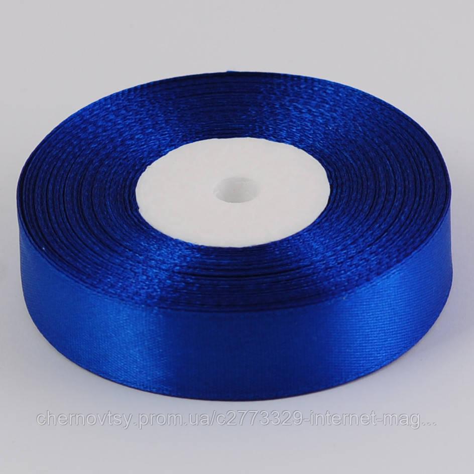 Лента атлас 1.25 см, 33 м, Синяя ТВ