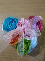 Подарочный  набор роз из мыла 6 штук