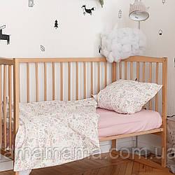 Комплект детского хлопкового постельного белья (3 предмета) Фламинго MagBaby