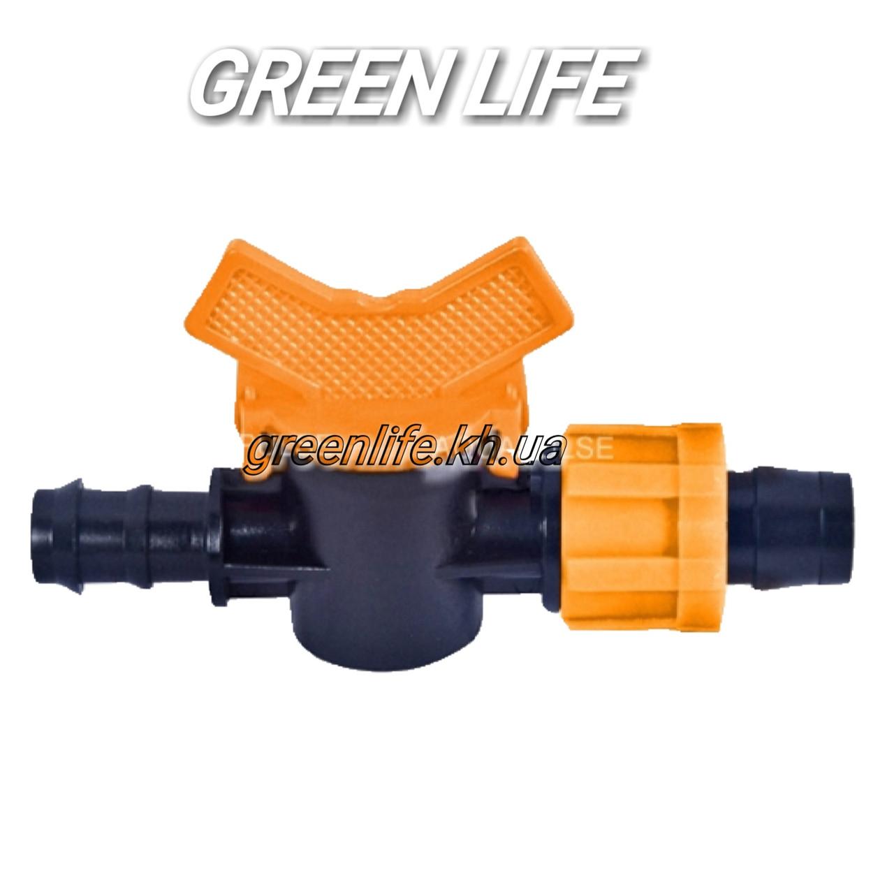 Кран редукционный для капельной ленты Dn 16 и трубки Dn 16 Aquapulse
