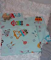 Постельный комплект в детскую кроватку. 3 предмета . РАНФОРС, фото 1
