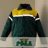 Куртка робоча утеплена з світловідбиваючими стрічками, (пошиття під замовлення)