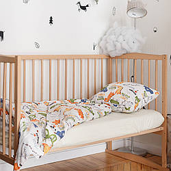 Комплект детского хлопкового постельного белья (3 предмета) Дино в городе MagBaby