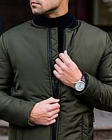 Куртка мужская демисезонная / бомбер утепленный весенний / осенний Storong X khaki ЛЮКС качество