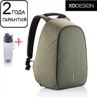 "Оригинал! Гарантия 2 года. Антивор рюкзак XD Design Bobby Hero Green 15.6"", зеленый"