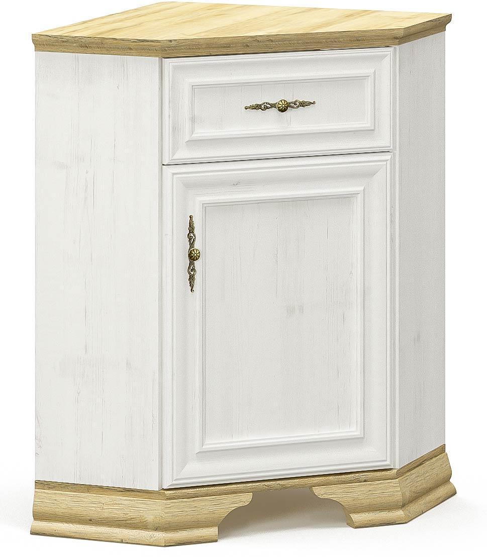 Комод угловой Ирис Андерсон пайн + Дуб золотой Мебель Сервис (59х59х88.7 см)