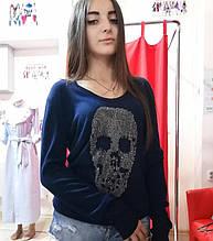 Кофта женская С черепом из страз Philipp Plein