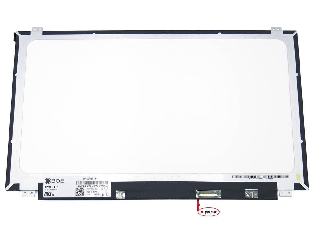 Матрица 15.6 Slim eDP (1920*1080, IPS, 30pin справа, ушки сверху-снизу) BOE NV156FHM-N41 Матовая. (Яркость: