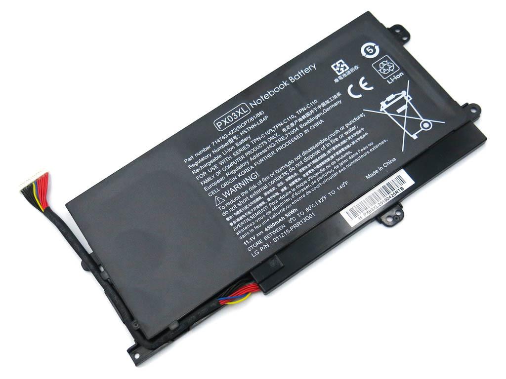 Батарея для ноутбука HP ENVY 14-K Touchsmart M6-K M6-K010DX M6-K015DX (PX03XL) (11.1V 4500mAh 50Wh).