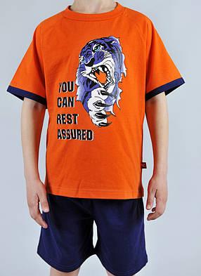 Пижама для мальчика Natural Club 1065 110 см Оранжевый, фото 2