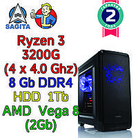 Игровой компьютер / ПК  ( AMD Ryzen 3 3200G  4 x 4.0GHz / B450 / 8Gb DDR4 / 1 Tb / Vega 8  / 450W)