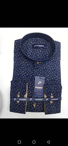 Sale!!! Рубашка Passero slim стойка с принтом, фото 2