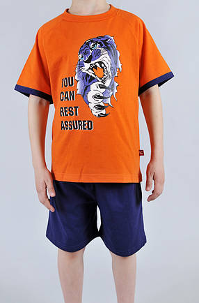 Пижама для мальчика Natural Club 1065 116 см Оранжевый, фото 2