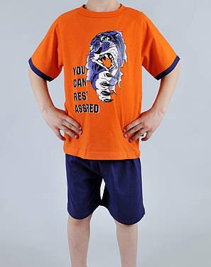 Пижама для мальчика Natural Club 1065 128 см Оранжевый, фото 2