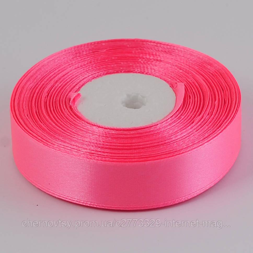 Лента атлас 4 см, 33 м, Ярко-розовая ТВ