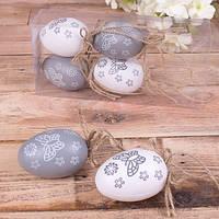 Набор пасхальных яиц с бабочками 6 шт. - пасхальный декор