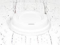 Крышка белая без питейника для стаканов 350 мл. d-90/ 500 шт.