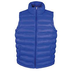 Мужская теплая жилетка синяя R193-51