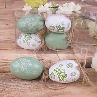 Набор пасхальных яиц с бабочками лазурные 6 шт. - пасхальный декор