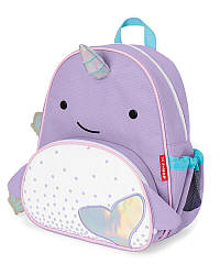Детский рюкзак Skip Hop Zoo Pack (Zoo Little Kid Backpack) - Purple Narwhal (Нарвал сиреневый), 3+