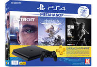 Ігрова консоль Sony PS4 1Tb Black (CUH-2208B) HZD+DET+TLOU+PSPlus 3М