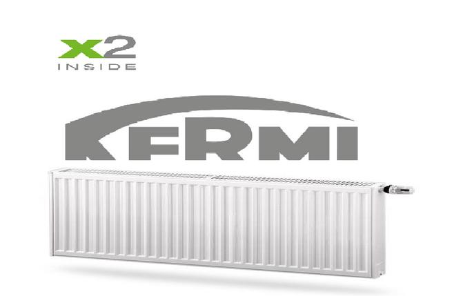 Радиатор стальной Kermi FTV 22тип 200х1400 - Нижнее подключение, фото 2