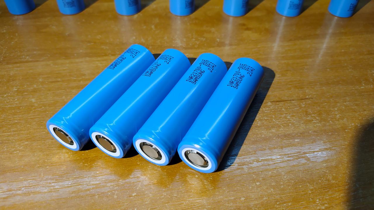 Аккумулятор Samsung INR21700-50E, емкость 5000mAh, ток разряда до 14,7A. Оригинал.
