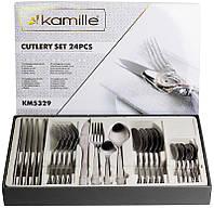 Набір столових приборів Kamille Narkis 24 предмета, фото 1