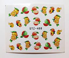 Наклейка для ногтей STZ-488
