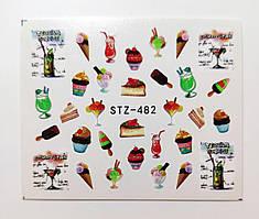 Наклейка для ногтей STZ-482