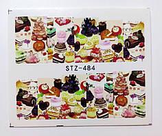 Наклейка для ногтей STZ-484