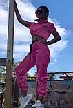 Костюм женский яркий салатовый малиновый, фото 2