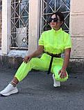 Костюм женский яркий салатовый малиновый, фото 3