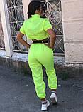 Костюм женский яркий салатовый малиновый, фото 6