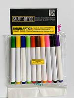 Маркеры для доски сухостираемые 10 цветов в упаковке