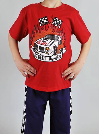 Піжама для хлопчика Natural Club 1004 128 см Червоний, фото 2