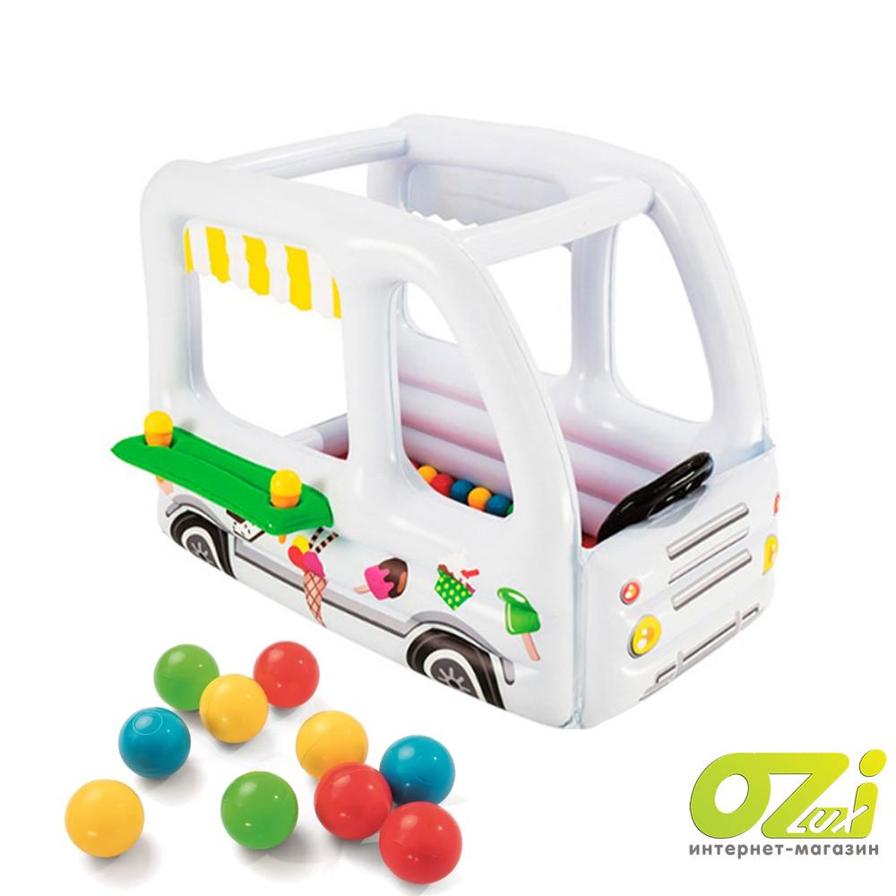 Надувной манеж с мячиками Bestway Фургончик мороженщика 52268