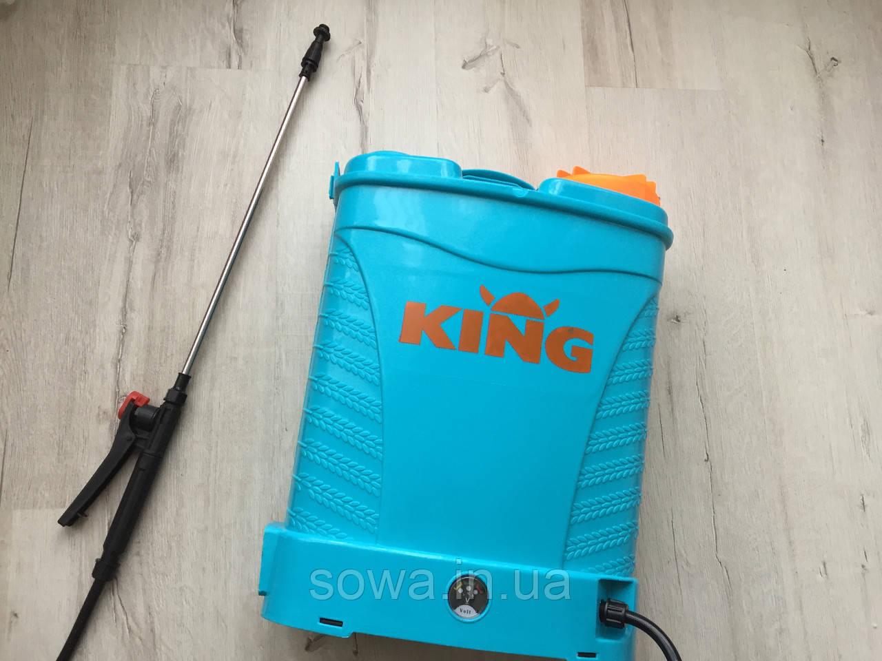 ✔️ Акумуляторний садовий обприскувач KING Profi | 15Ah, 16L