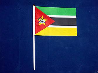 Флажок Мозамбика 13x20см на пластиковом флагштоке