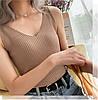 Женская трикотажная майка на бретелях 42-44 (в расцветках), фото 7