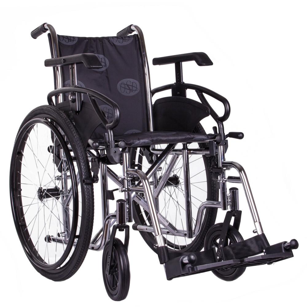 Коляска инвалидная MILLENIUM III хром+насос